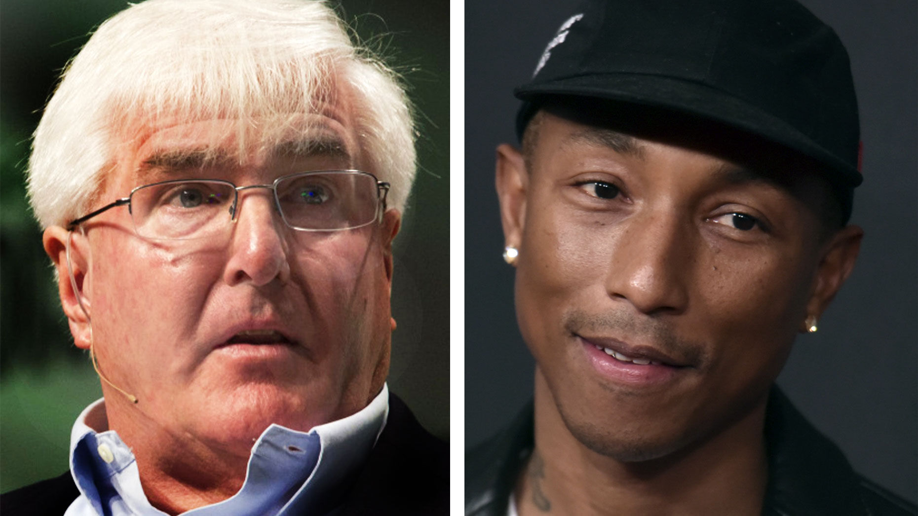 Ron Conway (left) and Pharrell Williams. Photos by Bloomberg; AP