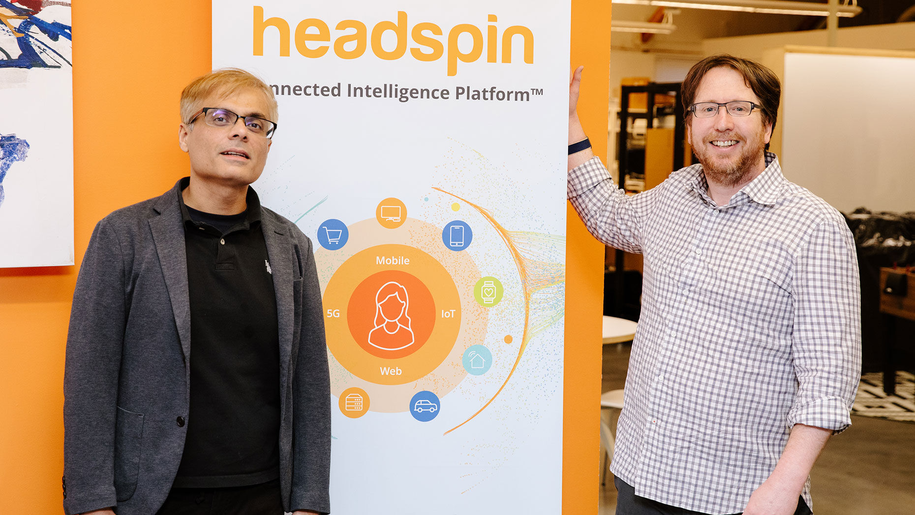 HeadSpin founders Manish Lachwani and Brien Colwell. Photo courtesy of Headspin.