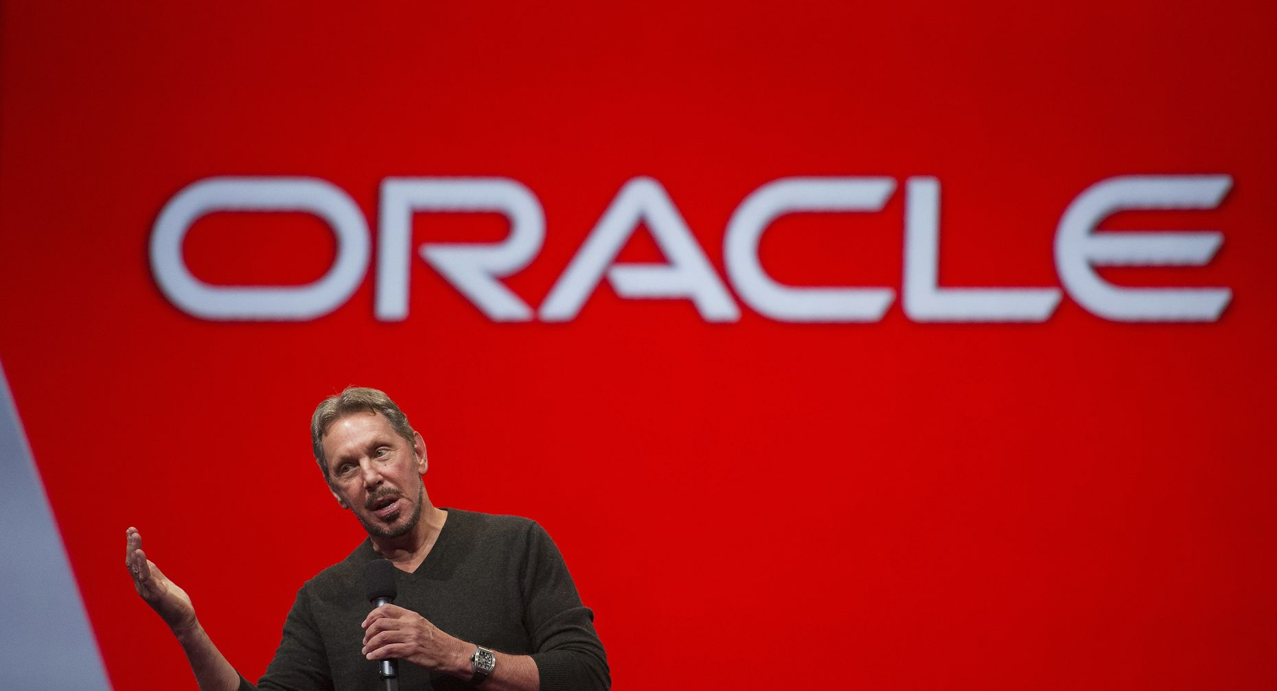 Oracle founder and chief technology officer Larry Ellison. Photo by Bloomberg.
