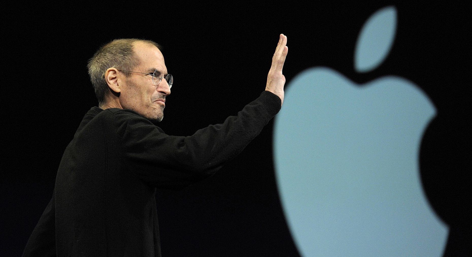 Steve Jobs announcing iCloud in 2011. Photo by Bloomberg.
