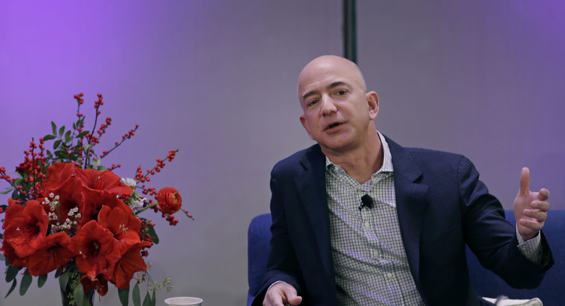 Amazon CEO Jeff Bezos. Photo by Bloomberg