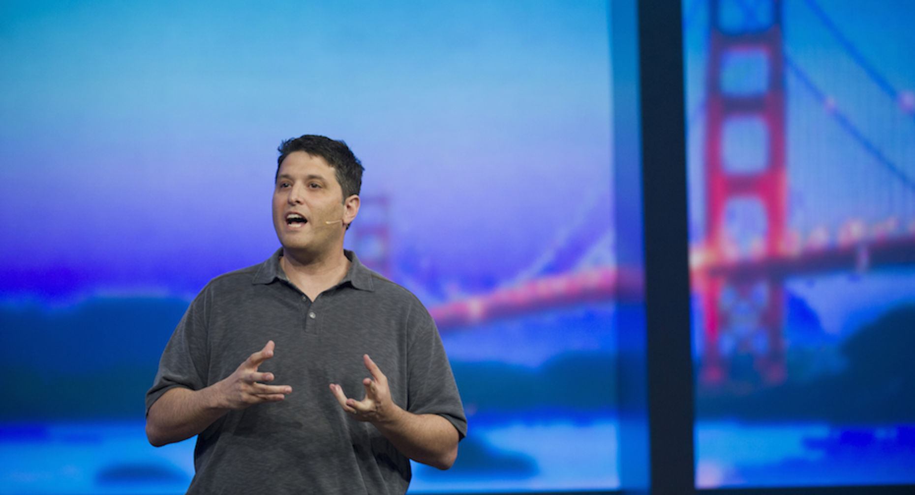 Terry Myerson, head of Microsoft's operating systems group. Photo by Bloomberg.