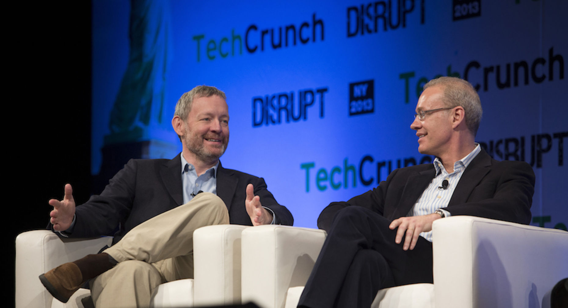MongoDB co-founders Dwight Merriman (left) and Kevin Ryan. Photo by Bloomberg.