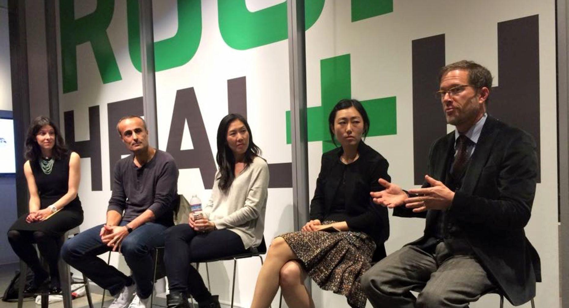 Jessica Lessin, Ali Diab, Jennifer Tye, Jini Kim, Jordan Shlain. Photo by Stephen Nellis.