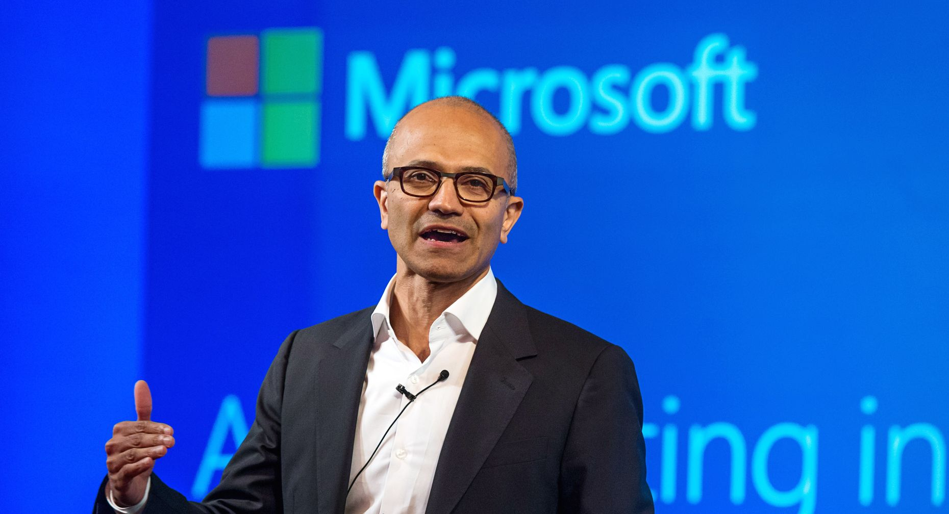 Microsoft CEO Satya Nadella. Photo by Bloomberg.