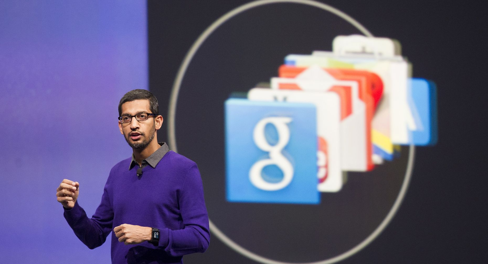 Sundar Pichai oversees Google's products, including ads. Photo by Bloomberg.