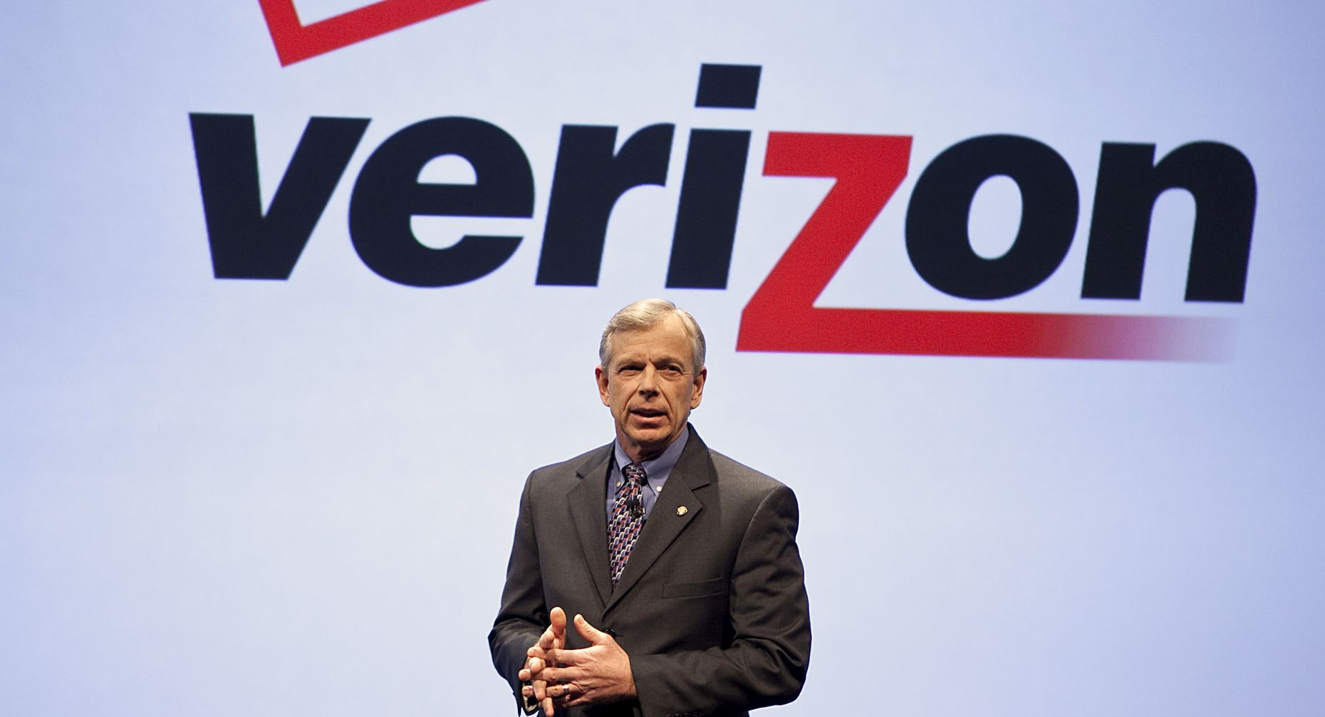Verizon CEO Lowell McAdam. Photo by Bloomberg.