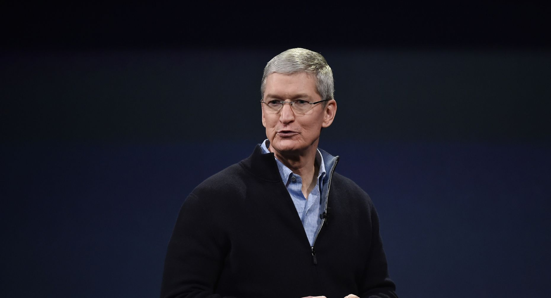 Apple CEO Tim Cook. Photo by Bloomberg.