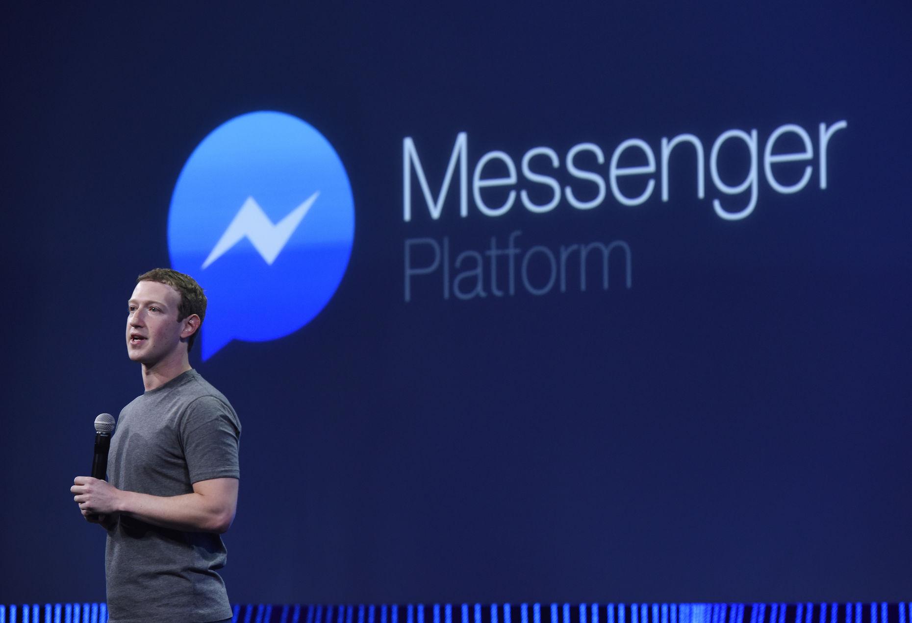Facebook CEO Mark Zuckerberg speaks to developers Wednesday. Photo by Bloomberg.