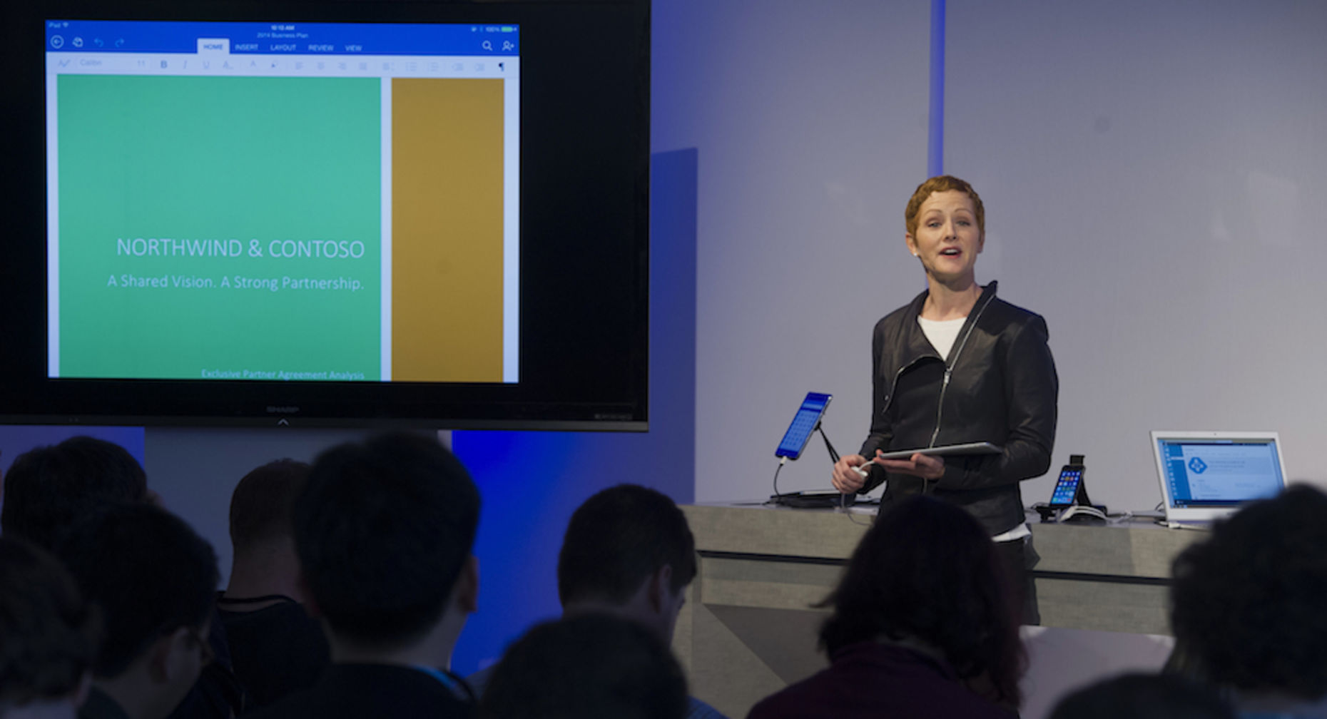 Julia White, general manager of product marketing for Microsoft Office. Photo by Bloomberg.