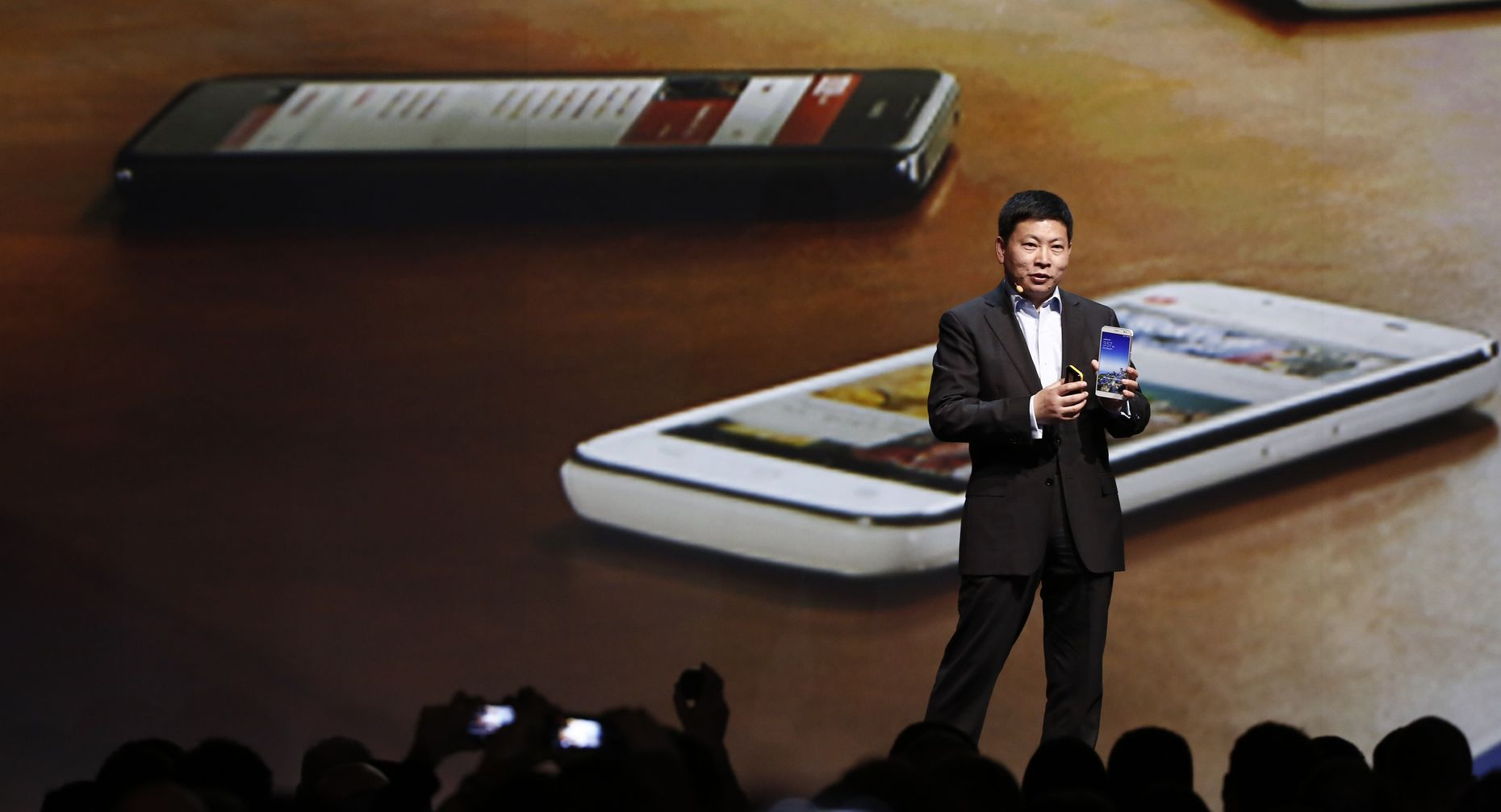 Richard Yu, who leads the devices group at Huawei Technologies. Photo by Bloomberg.
