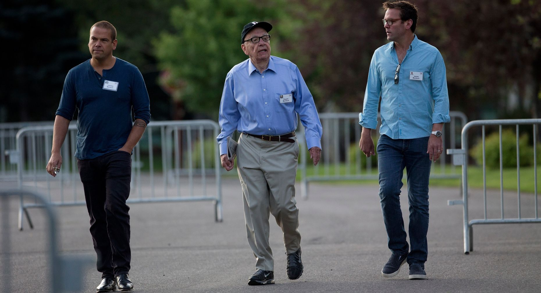 Lachlan, Rupert and James Murdoch. Photo by Bloomberg.