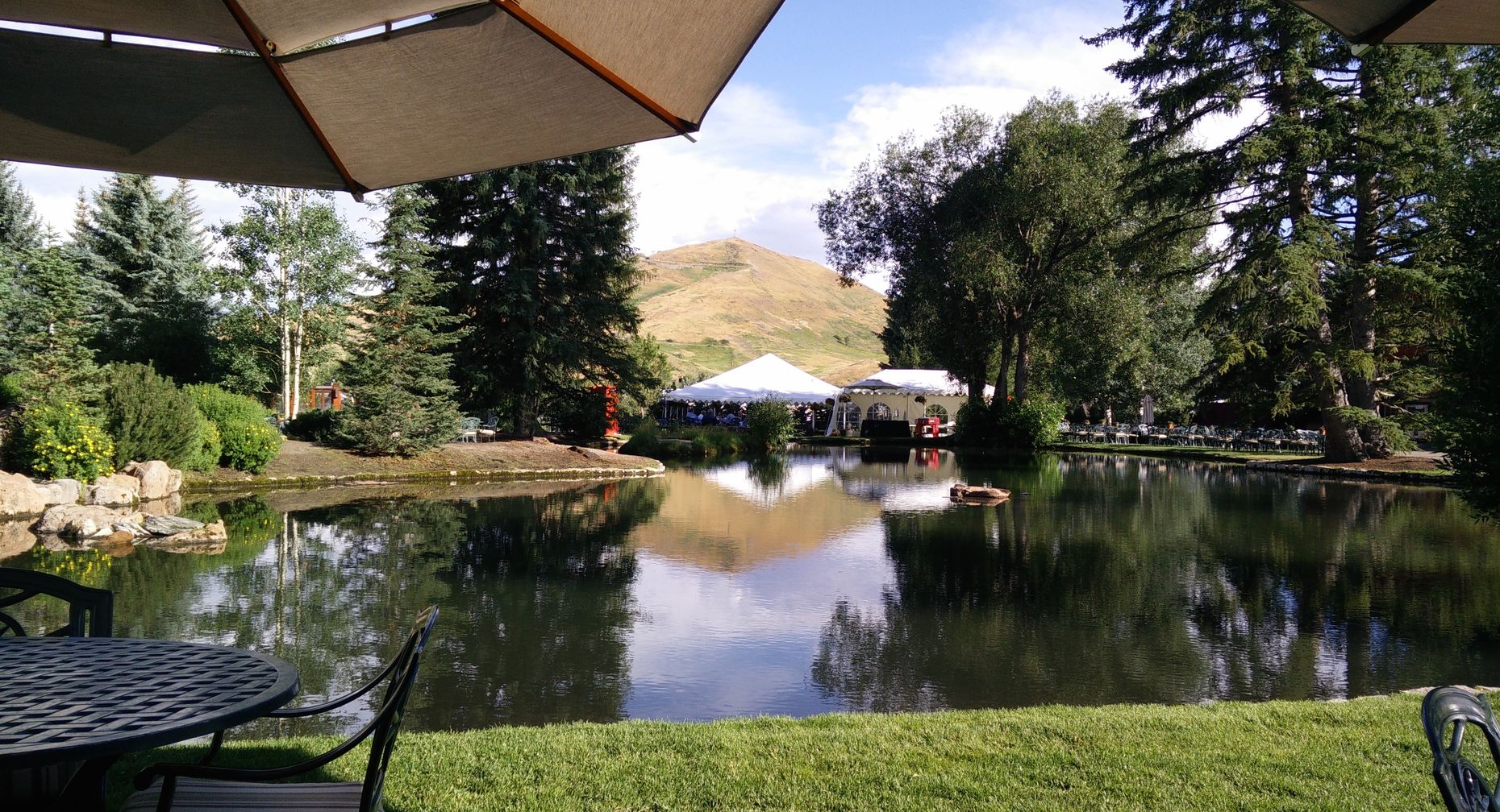 The duck pond where Allen & Co attendees relax and meet. Photo by Amir Efrati.