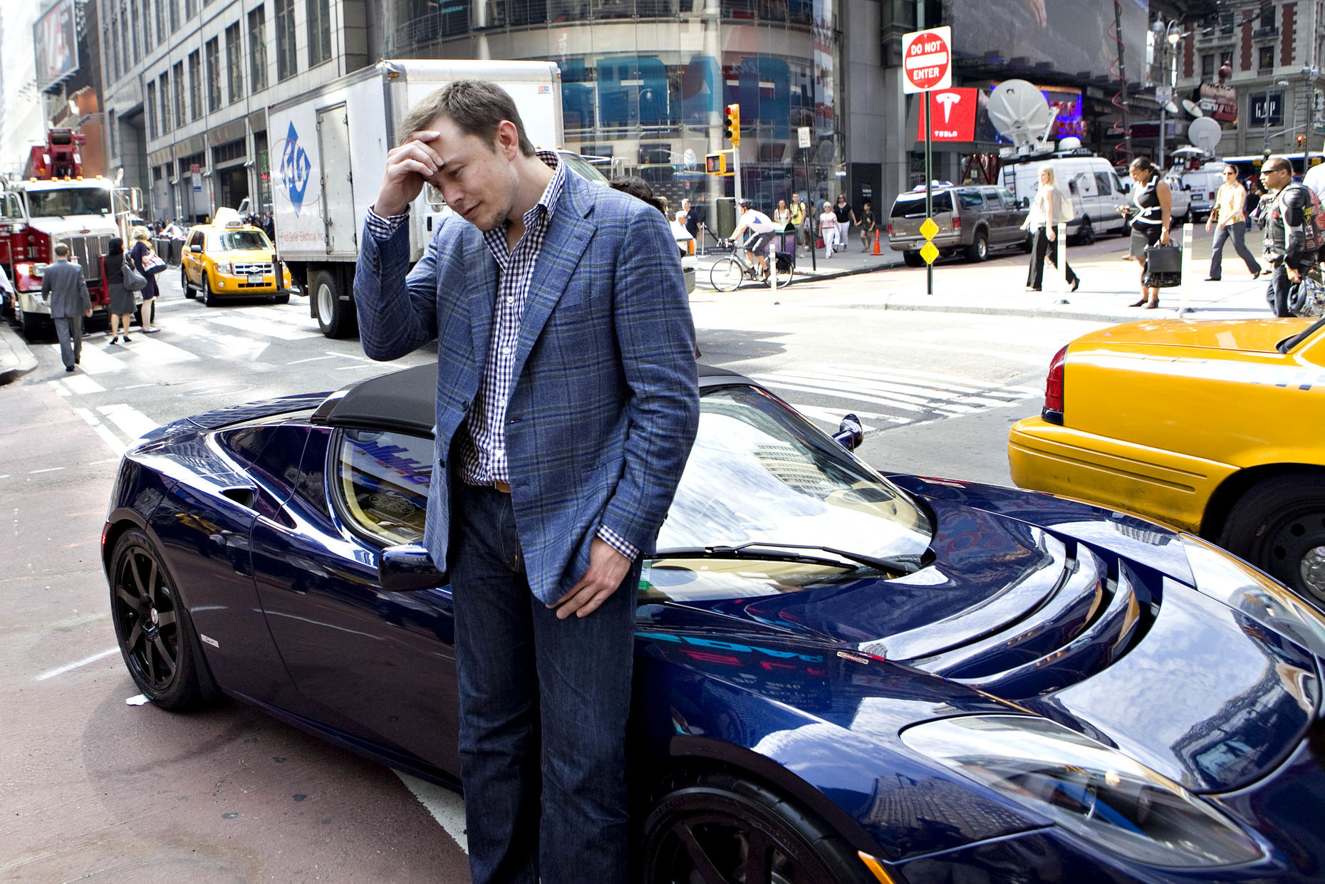 Tesla CEO Elon Musk. Photo by Bloomberg.