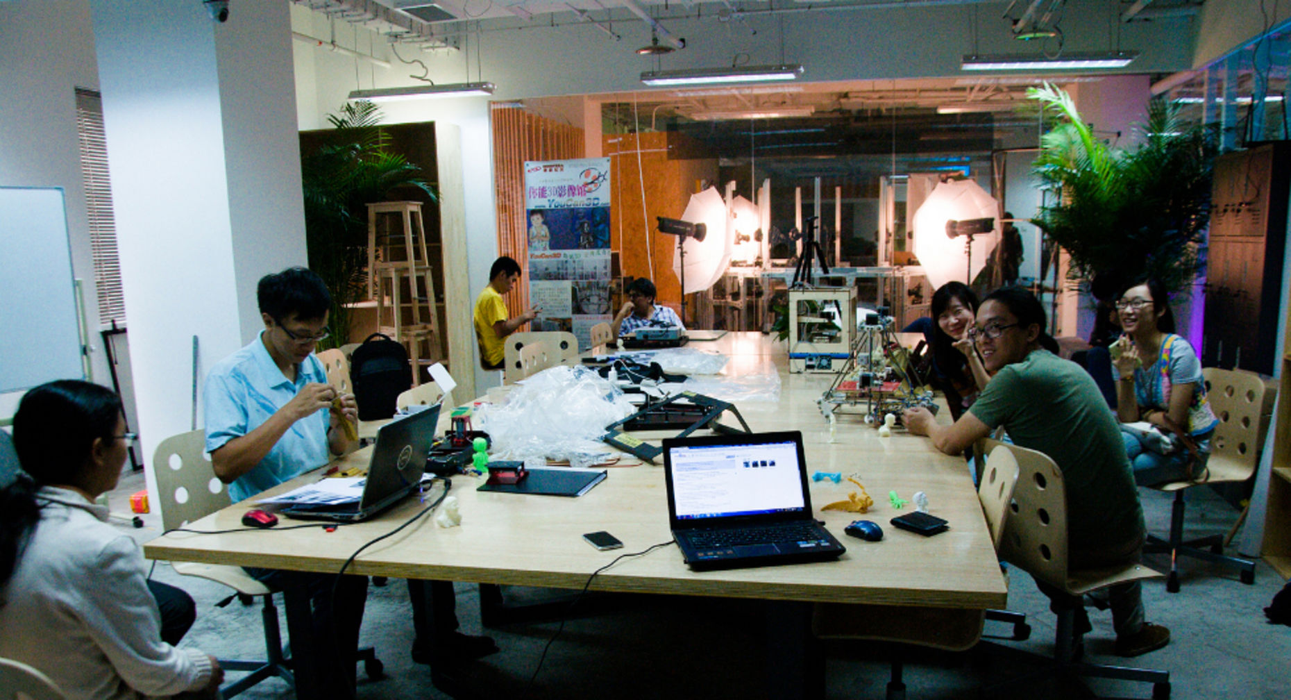 Attendees at technology workspace Makerspace in Beijing. Source: Mitch Altman
