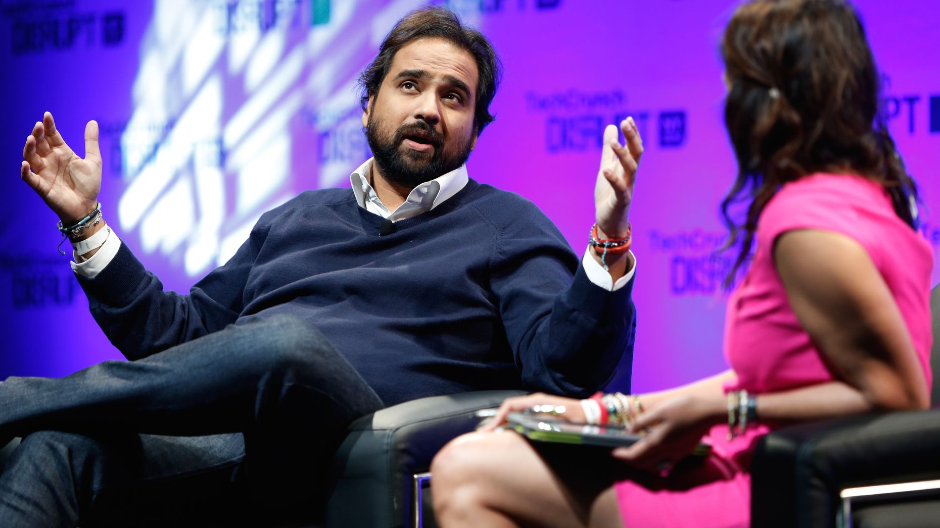 Jawbone CEO Hosain Rahman. Photo by Flickr/TechCrunch. Chart by Jeff Greco, chart images by Jawbone..