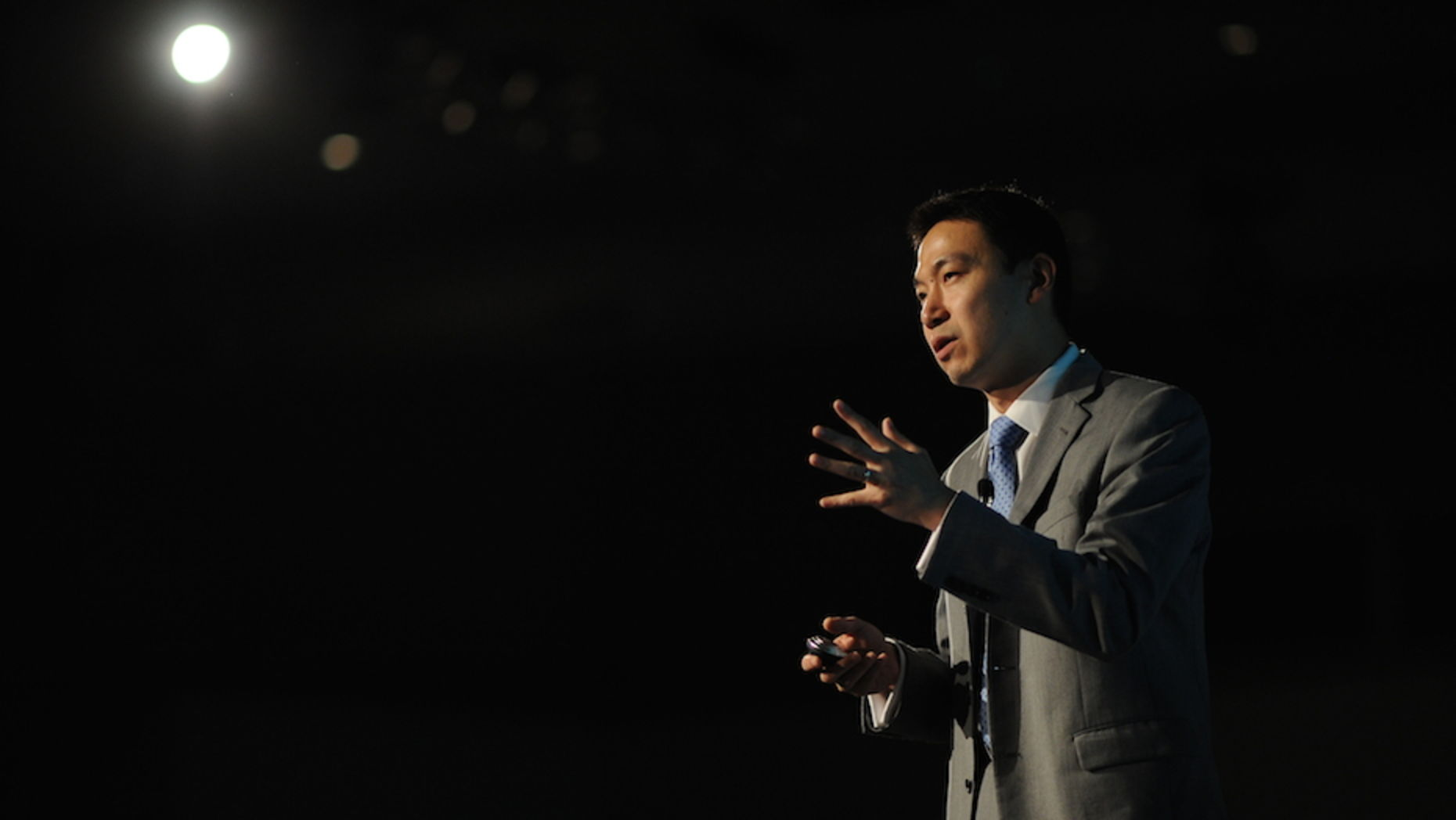 Salesforce.com Chief Operating Officer George Hu. Photo by Jakub Mosur.