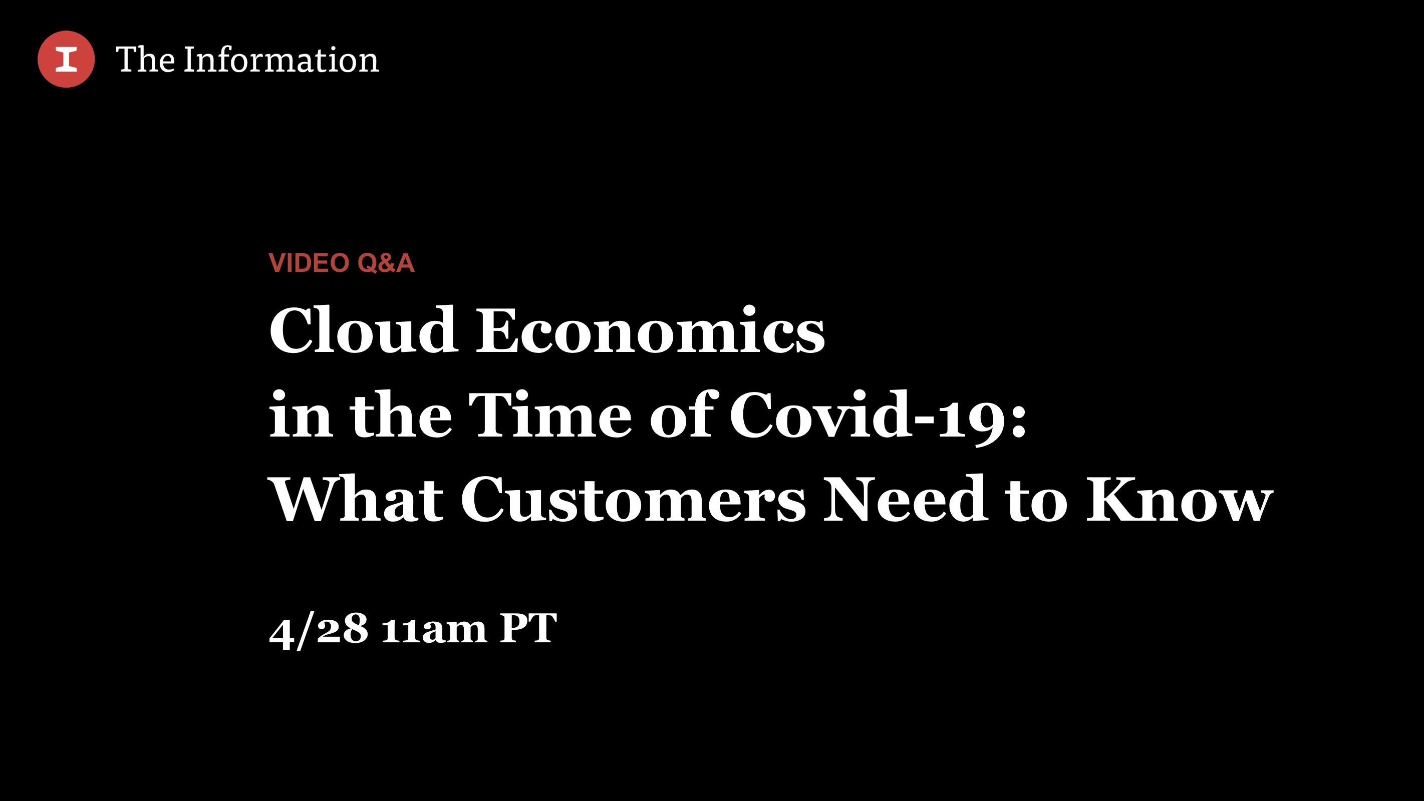 Cloud Economics in the Time of Covid-19: What Customers Need to Know